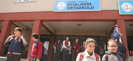 Bugün iyiliğin adı Ayvalıdere Ortaokulu.