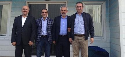Star  Gazetesi Genel Yayın Yönetmeni Nuh Albayrak ile Gazeteci Ahmet Gemici Deniz Feneri Derneği'ni ziyaret etti