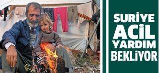 Suriye acil yardım bekliyor