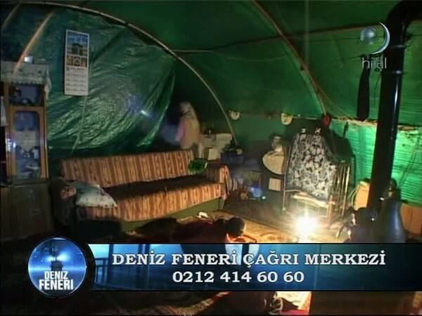 Deniz Feneri Çadırda Yaşayan Aileyi Ev Sahibi yaptı