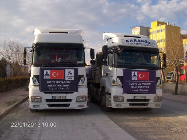 Suriye'ye 2 Tır Un