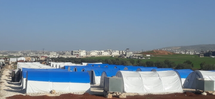 Çadırlarımız İdlib'e Ulaştı