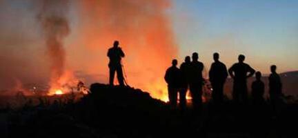 Çanakkale'de Orman Yangını Köylüyü Vurdu