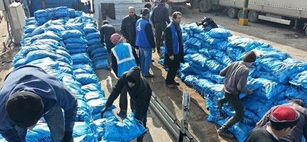 Deniz Feneri Derneği  Suriye'deki Kamplara 490 Ton Kömür Gönderdi