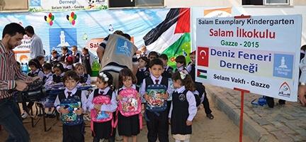Deniz Feneri Gazzeli Yetimleri Sevindirdi