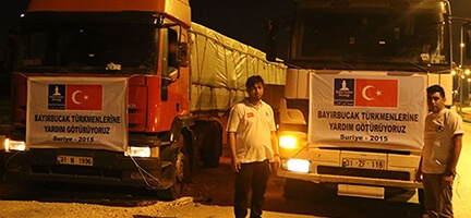 Deniz Feneri'nden Bayırbucak Türkmenlerine 2 tır insani yardım malzemesi