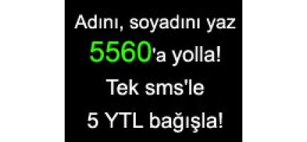 Deniz Feneri SMS Bağış Hattı 5560