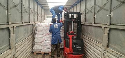 Deniz Feneri Suriyeli Misafirlere 25 Ton Un Gönderiyor
