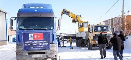Erzurum'dan Suriye'ye 9. Yardım Tır'ı
