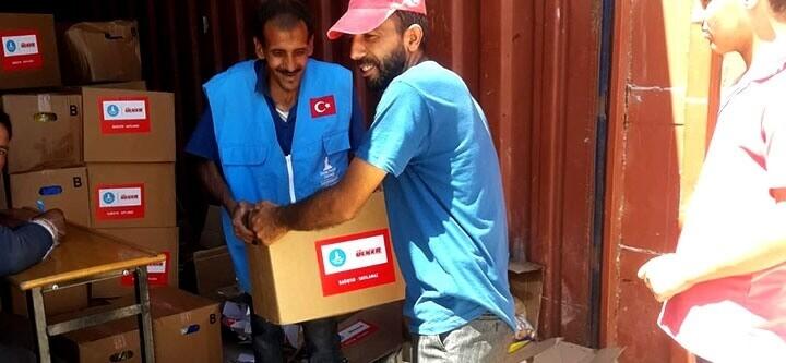 Harameyn ve Ehl-i Şam Kamplarına Gıda Yardımı