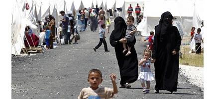 Irak'taki Suriyeli Mültecilere Yardım