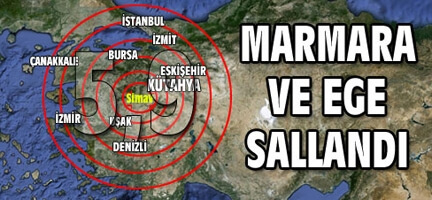 Kütahya'da 6 Şiddetinde Deprem