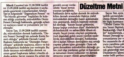 Sözcü Gazetesi'ne de Tekzip Kararı