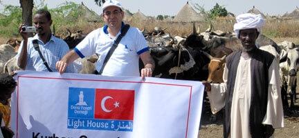 Sudan´da Kurban Etleri Mültecilere