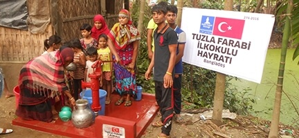 Tuzla Farabi İlkokulundan Bangladeş'e Su Kuyusu