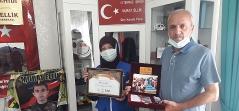 Doğu Anadolu Temsilciliğimizden Şehit Ailelerine Plaket Takdimi